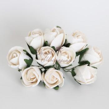 Бутон розы БОЛЬШОЙ БЕЛЫЙ, 152