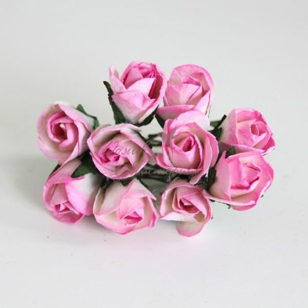 Бутон розы БОЛЬШОЙ РОЗОВЫЙ + БЕЛЫЙ, 520