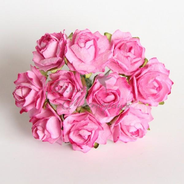 Кудрявая роза 2 см, РОЗОВАЯ