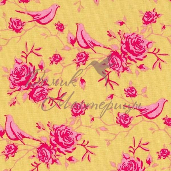 Rosebird Pink On Green, 480016