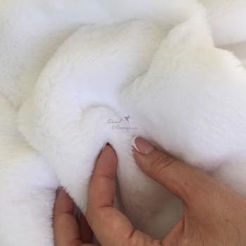 Плюш Белый, 10 мм