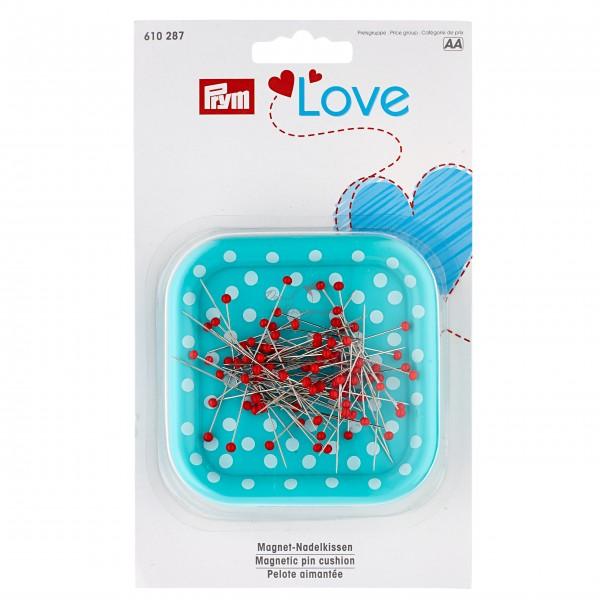 Магнитная игольница «Prym Love» с булавками со стеклянными головками