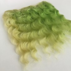 Тресс натуральный волнистый, зеленый