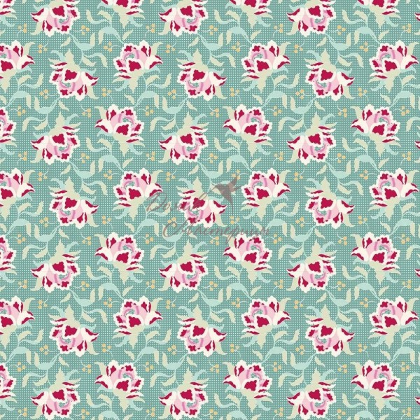 Tilda Clown Flower Teal, 481323
