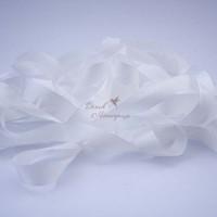 Шелковая лента 4 мм, белая