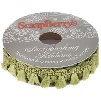 Тесьма хвостики ScrapBerry's, зеленая